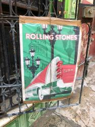 We LOVE the Stones tongue tail lights on this concert poster! With Rock and Roll being banned in Cuba for many years, and rumors of people even going to jail for listening to the Beatles in the past, the  first Rolling Stones concert in Cuba was a BIG DEAL, as evidenced by this poster still hanging 3 years later. The Stones played for FREE on March 25, 2016 to an estimated 500,000 Cubans in Havana. Some lucky tourists who happened to be there that day also attended the show which was originally slated to be held on March 20th, but had to be changed as the Obamas were arriving that same day. Due to the US embargo, the Stones had to ship all of their equipment from Belgium. They also had a difficult time setting up the stage/sound system as they typically hire local roadies where ever they perform. But in Cuba there ain