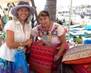Our new Huichol hand woven pillow from the La Cruz Sunday market