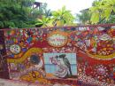 Beautiful new art-wall in Yelapa.
