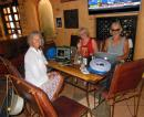 The working stiffs, Heidi, Boni, and John. We might be living the dream but some of us are still working our businesses from any wifi-cafe we can find. Hammerheads at San Carlos Marina has good wifi and limonadas mineral, but their A/C makes it too cold in there! John