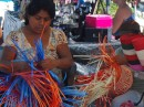 basket weavers at the Sunday Market