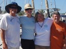 The Crew of Mazu...all from the Eugene/Springfield area.  Jack, Suzanne, Elaine-1st mate, and Captain Mel.