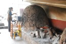 Cooking on the open fire and clay ovens