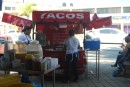 10 peso street side tacos in Manzanillo