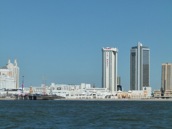 Here is Atlantic City from the ocean.