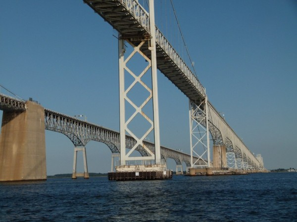 And a more familiar bridge - across the Chesapeake Bay - we were very happy to see the Bay Bridge!