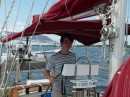 Sam took over the helmsman duties for the week.