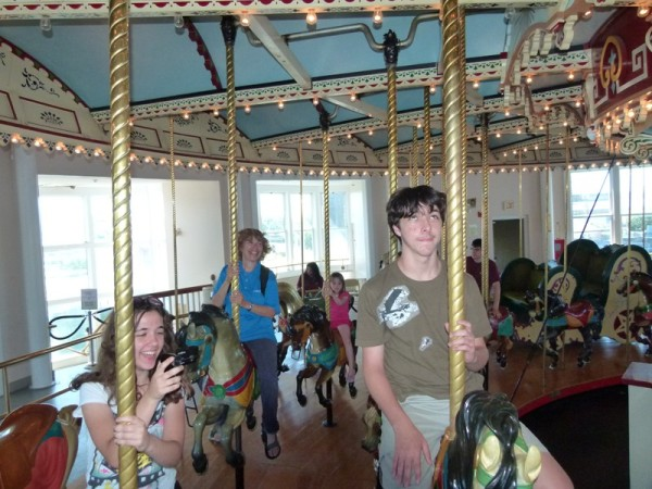 They even have a carousel which we had to ride.  Not everyone was thrilled by that.