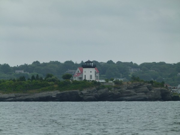From Fall River we headed up the Sakonnet River. The lighthouses are very different than the Chesapeake lighthouses.