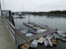 Rockland is a big city.  This is a good view of the public dinghy dock. It