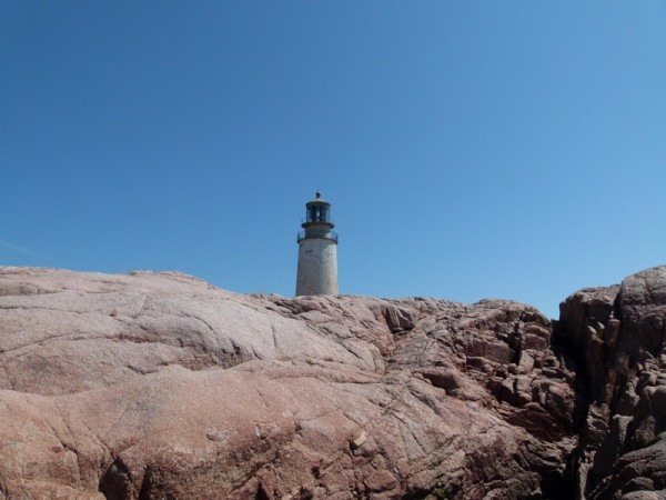 We climbed on the rocks around the lighthouse for a while.