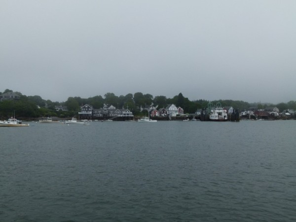 We decided to go check out a Maine city so we went to North Haven. We anchored next to the ferry terminal.