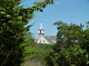 We hiked around the island.  Here is a view of the chapel from one of the trails.