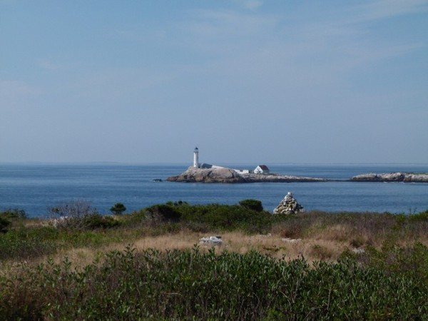 There are several other islands in the Isles of Shoals.  This is a view of White Island and the lighthouse.