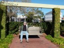 Here is Bill sitting on one of the swings they have on the Beaufort waterfront.