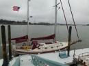We stayed at a dock near Beaufort for a couple of nights. It was a cruising station for the cruising club we belong to - SSCA - Seven Seas Cruising Association. The weather was bad but we were able to take care of a lot of personal business.