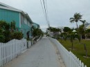 Here is a picture of a typical street in Man of War Cay.