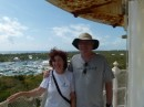 Someone offered to take our picture together.  Here we are at the top of the lighthouse.