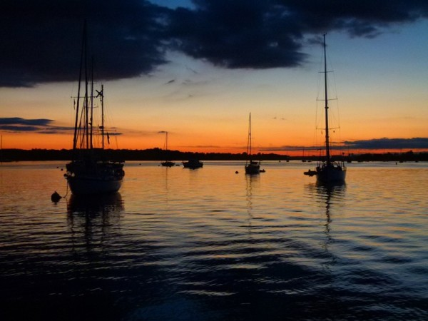 Here is a lovely sunset picture of the mooring field at Port Washington.