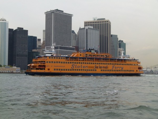 Pretty amazing how big the Staten Island Ferry is when you are trying to stay out of its way!