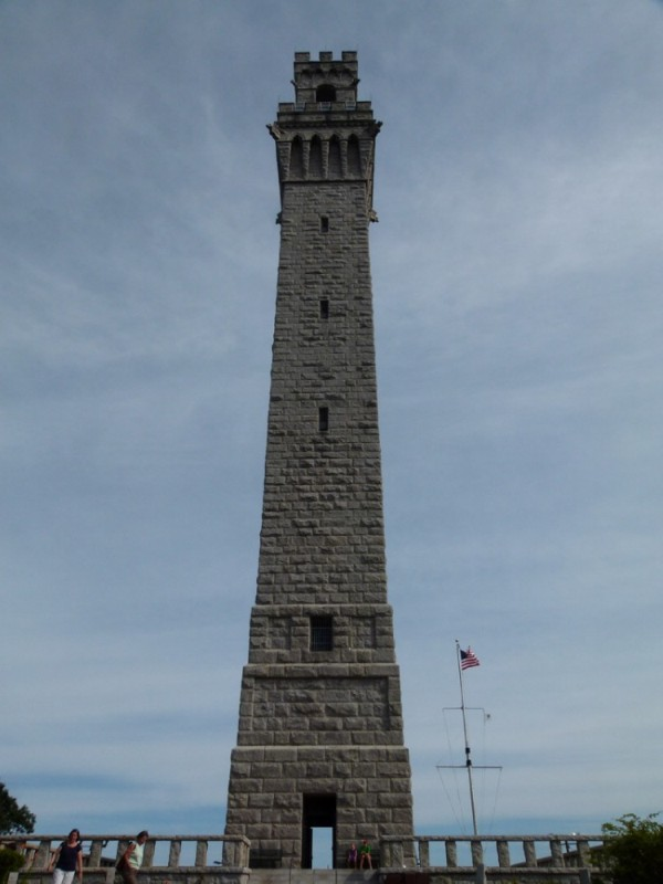 This is the Pilgrim Monument. The Mayflower stopped here before going onto Plymouth.  We climbed to the top.