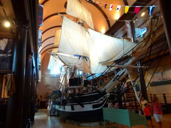 They even had a replica whaling ship built to scale.