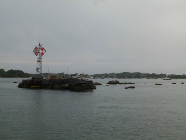 When we left New Bedford we went to Woods Hole. This is at the entrance to the harbor.  There are rocks all around, and a strong current. Timing is everything when you are coming into this harbor.