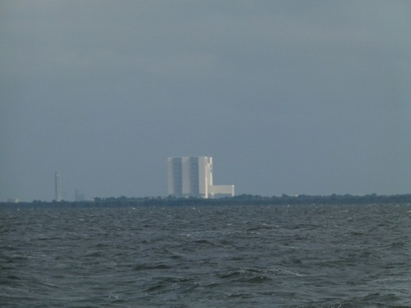 As we drove the boat through the Space Coast we had views of the NASA Vehicle Assembly Building.