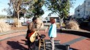 We walked along the Savannah waterfront. We skipped this city while going down the ICW.  It was great to see it this time.  This street musician made me stand in the center to hear the echo from the circular wall.