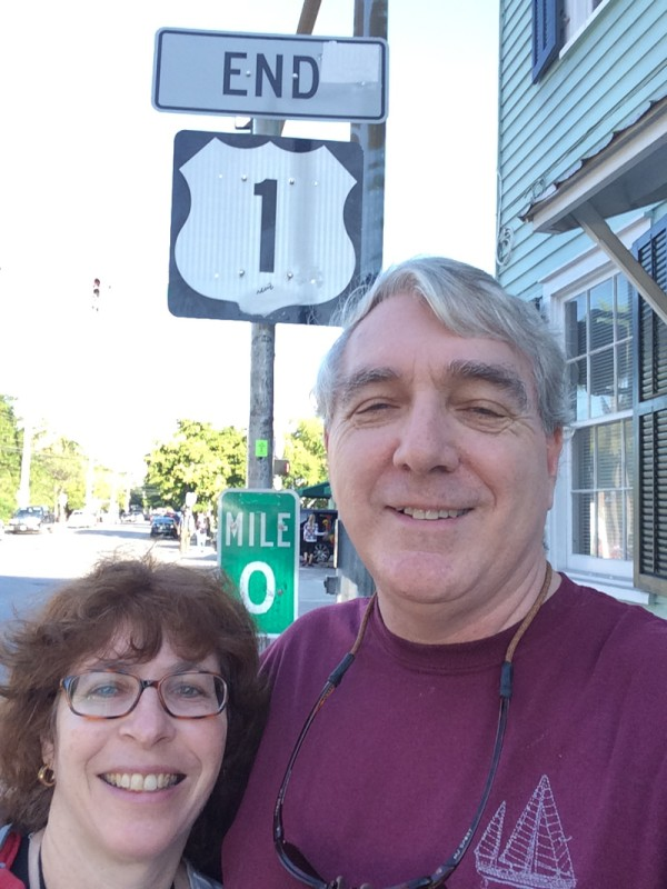 We had to take the required picture of us at the end of Route 1.