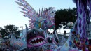 This float is covered with different types of fish.  We left the parade at 7:10am after being there since the start - there was still plenty of parade coming up but by then our ears were ringing!  Junkanoo was definitely a great experience.