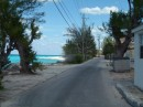 Here is the road that follows the beach around.