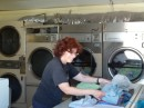 We met again a couple days later at the laundromat.  Not a glamorous picture, but a reality in our life these days.
