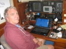 Captain Bill at his Nav station!