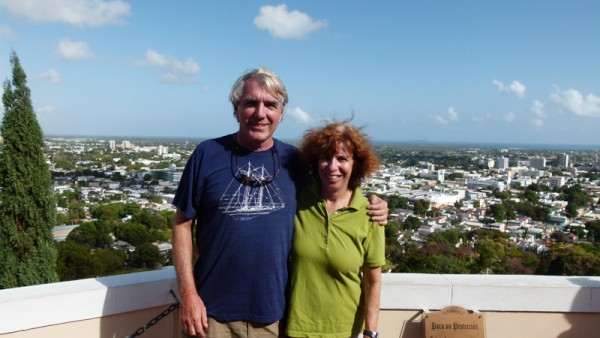 We were high above downtown Ponce.