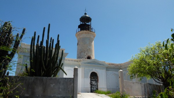 We went to the Isla Caja de Muertos and hiked up to the lighthouse and the nearby cave.