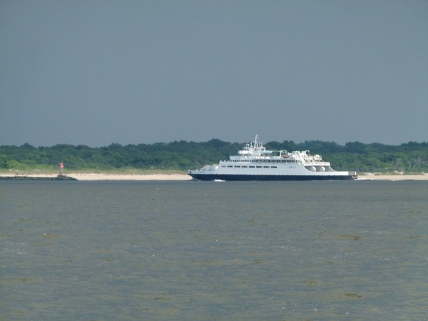 The Cape May/Lewes ferry that called us to ask us to stay out of his way.
