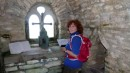 Here I am signing the guest book in the miniature chapel.