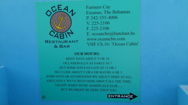 We went from Black Point to Little Farmers Cay. We weren