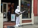 There were street performers. This was my favorite. The man in white. He froze then made a weird screech and then started playing the guitar for just a few minutes before freezing again.