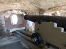 This is one of the cannons inside the fort.