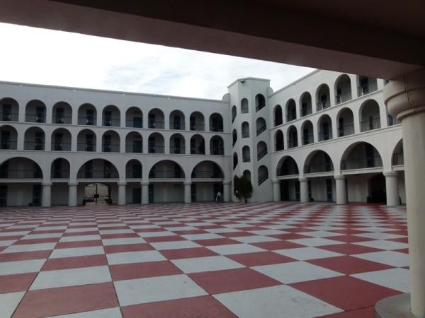 This is a view of the dormitory courtyard.  It