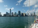 A skyline view of Miami.
