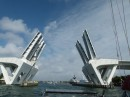 This bridge opened up to Port Everglades which is very commercial and is where the cruise ships leave from.