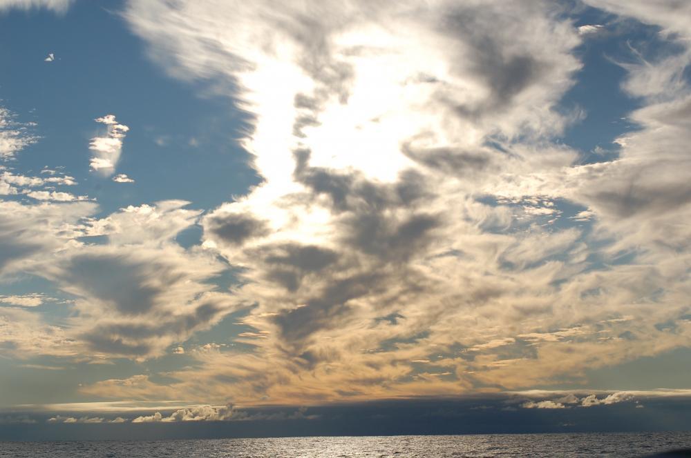 Cool sky on the way