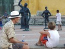 Hanging with Zen in a Cartagena square