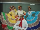 Colorful costumes of a traditional dance troupe