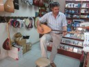Owner of shop kindly played for us