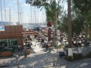 View across to marina from lunch cafe
