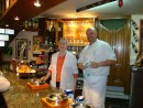 DSC00434: Josu and his proud mother in their restaurant Burigorri in Itziar/Spain